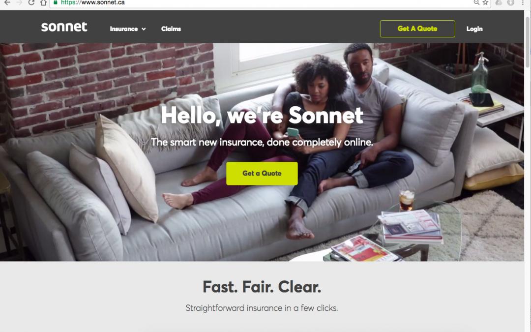 Sonnet website homepage